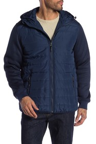 Ben Sherman Knit Sleeve Puffer Jacket