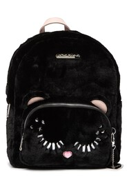 Betsey Johnson Fuzzy Faux Fur Backpack