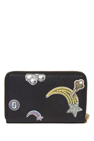 Marc Jacobs Tossed Charms Saffiano Leather Wristle