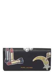 Marc Jacobs Tossed Charms Saffiano Leather Flap Wa