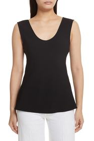 Theory Thery Rosina Cowl Back Crepe Tank