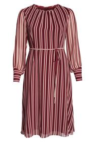 BODEN Belted Stripe Midi Dress