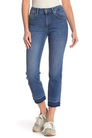 French Connection High Rise Straight Leg Jeans