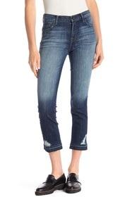 J Brand Ruby Cropped Faded Jeans