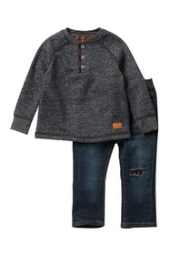 7 For All Mankind 2-Piece Henley Set (Baby Boys)
