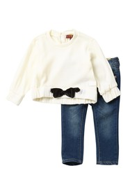 7 For All Mankind Sweater & Jeans 2-Piece Set (Bab