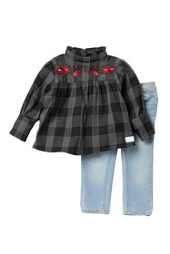 7 For All Mankind High Neck Top & Jeans 2-Piece Se