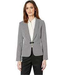 Tahari by ASL Houndstooth Jacket with Closure