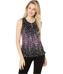 Tahari by ASL Sleeveless Printed Knit Top with Key