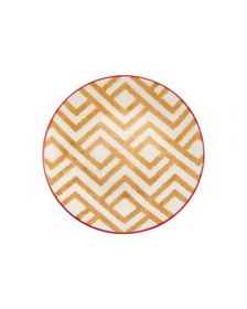 Honey Geometric Appetizer Plate