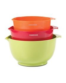 Set of 3 Classic Plastic Mixing Bowls