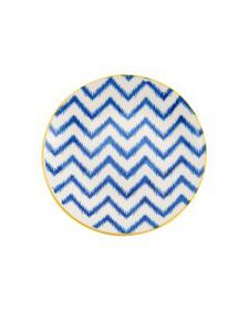 Blue Chevron Appetizer Plate