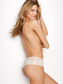 Dream Angels Floral Lace Hipster Thong Panty