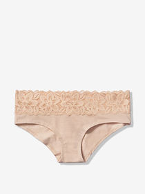 PINK Lace Trim Hipster
