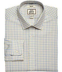 1905 Collection Slim Fit Spread Collar Check Dress