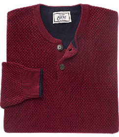 1905 Collection Henley Cotton Sweater - Big & Tall