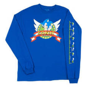 Youngs Mens Long Sleeve Sonic The Hedgehog Tee