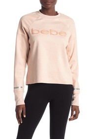 bebe Sporty Embroidered Logo Pullover