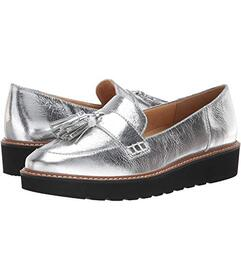Naturalizer Silver Textured Foil Leather
