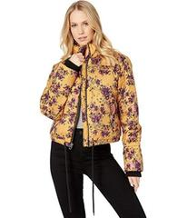 Juicy Couture Etched Floral Printed Puffer