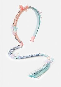 Pastel Floral Braid Headband