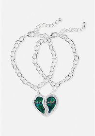 BFF Mood Heart Charm Bracelet - 2 Pack