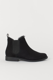 Pile-lined Chelsea Boots