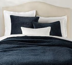 Velvet Medallion Quilt & Sham - Midnight