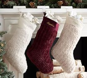 Personalized Faux Fur Knit Stockings