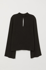 Trumpet-sleeved Blouse