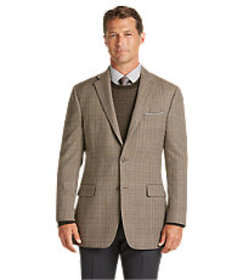 Reserve Collection Traditional Fit Plaid Sportcoat