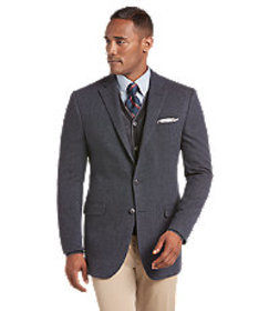 1905 Collection Tailored Fit Solid Sportcoat CLEAR