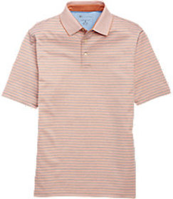 David Leadbetter Traditional Fit Stays Cool Stripe