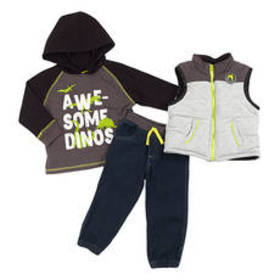 Baby Boy (12-24M) Little Rebels 3pc. Awesome Dinos