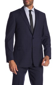 Brooks Brothers Navy Check Classic Fit Suit Separa