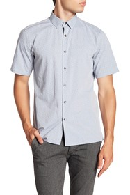 Theory Murray Trim Fit Check Short Sleeve Sport Sh