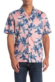 Perry Ellis Palm Print Relaxed Fit Shirt