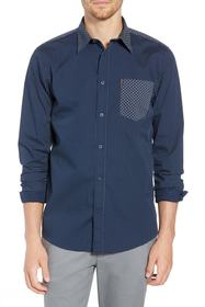 Ben Sherman Trim Fit Block Print Sport Shirt