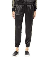Juicy Couture Satin Track Pants with Logo Side Str