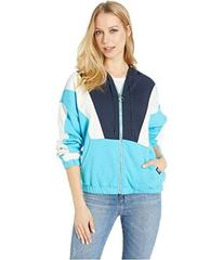 Juicy Couture Nylon and Terry Mixed Track Jacket