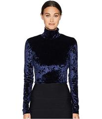 Versace Jeans Couture Cropped Velvet Turtleneck