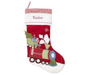 Train Quilted Stocking