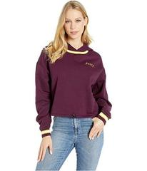 Juicy Couture Logo Detail Cinched Pullover with Ho