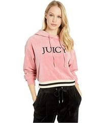 Juicy Couture Luxe Velour Hooded Pullover