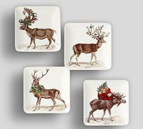 Silly Stag Appetizer Plate, Set of 4