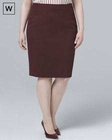Plus Luxe Suiting Pencil Skirt