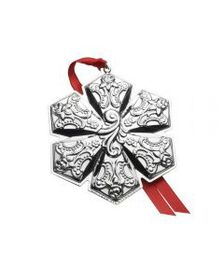 2018 Sterling Snowflake Ornament 21st Anniversary