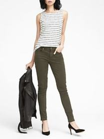 Skinny Stretch Cotton-Blend Sateen Jean