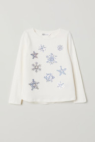 I'M INTERACTIVE Jersey Top with Sequin Motif