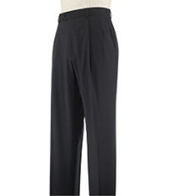 Signature Tailored Fit Wool Pleated Dress Pants CL